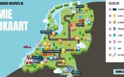 Chemie Landkaart: chemieclusters en innovatie hotspots in een overzicht